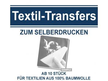 Textiltransfers einfarbig