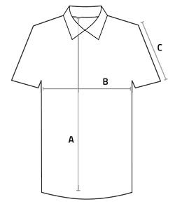 Maßangabe für Polohemd