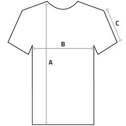 Maßtabellen für T-Shirts ohne Etikett